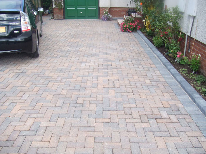 Driveline 50 Vintage & Tegula Kerb by A P B Landscaping