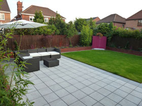 Argent Smooth Paving by Abel Landscapes