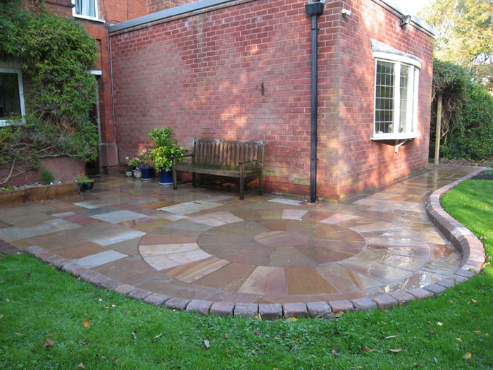 Fairstone Riven & Tegula Kerb by Acorn Landscapes