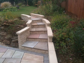 Fairstone Riven & Marshalite Rustic Walling by B H Buildng
