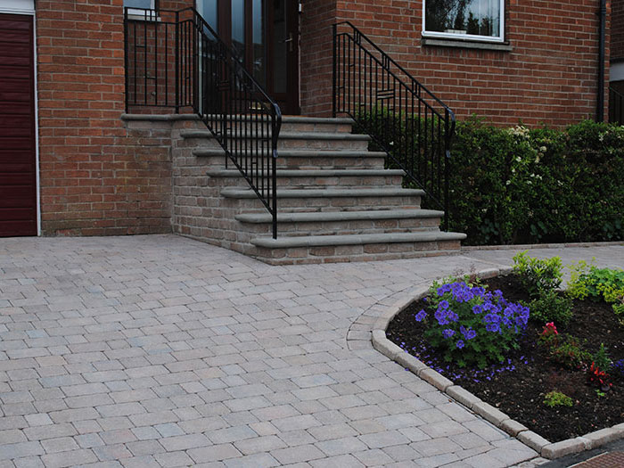 Tegula & Fairstone Steps by Briarlea Landscapes & Driveways