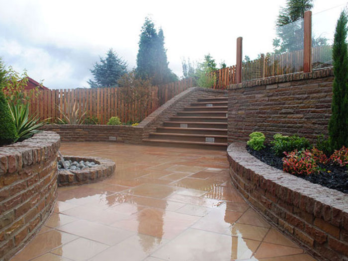Fairstone Sawn,Steps &Walling by Briarlea Landscapes