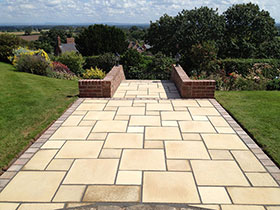 Firedstone Paving by Build Pave and Scape
