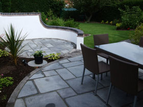 Drivesett Tegula Walling & Firedstone Paving by Central Drvs