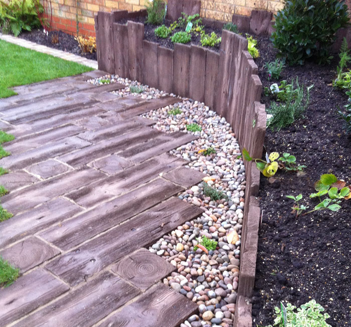 woodstone sleepers by conway landscapes of bishop stortford - Garden Design Using Sleepers
