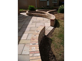 Fairstone Riven & Old Mill Brick by Marcus Guy Garden Design