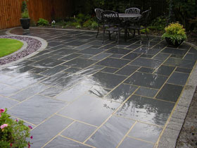 Drivesett Argent & Fairstone Slate by P Hope Paving Specia