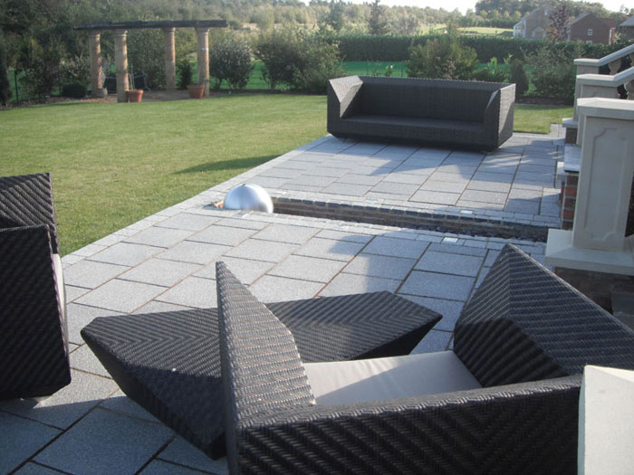 Argent Coarse Paving by Simply Landscaping