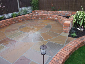 Old Mill Brick Walling by Woolton Landscapes Ltd