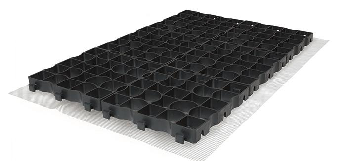 Drivegrid Permeable Driveway System in Black and White