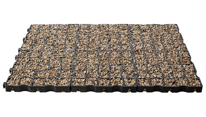 Drivegrid Permeable Driveway System in Golden Blend