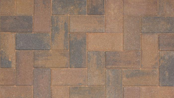 Driveline 50 Block Paving in Burnt Ochre