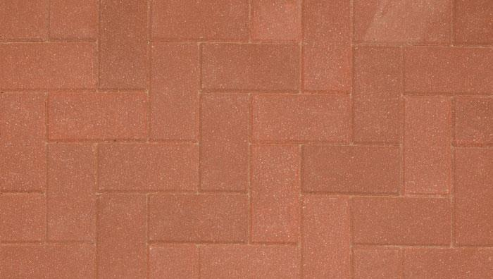 Driveline 50 Block Paving in Red
