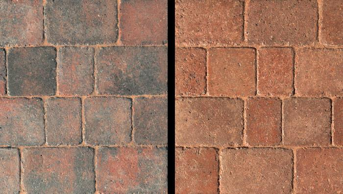 Drivesett Duo Block Paving in Cinder and Terracotta