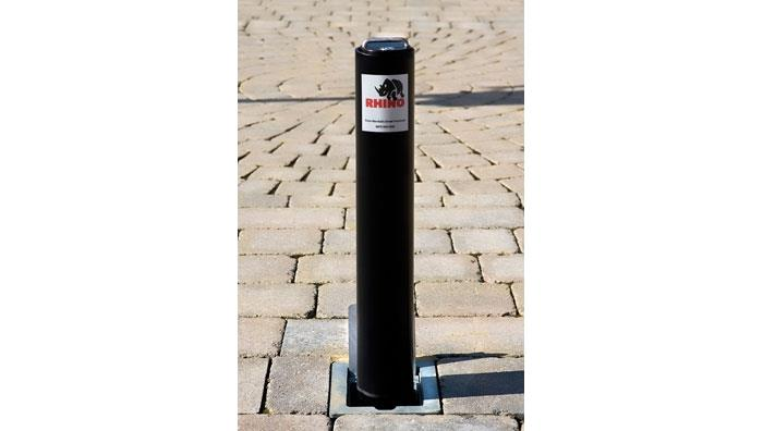 Driveway Security Post in Black