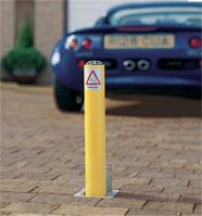 Driveway Security Post in Yellow