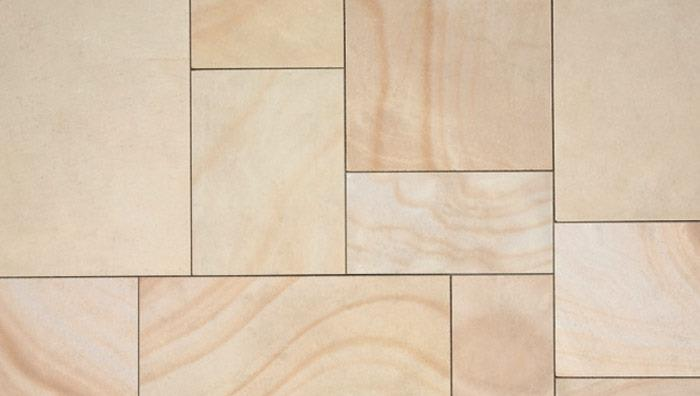 Fairstone Natural Stone Sawn Coping Stones in Golden Sand Multi