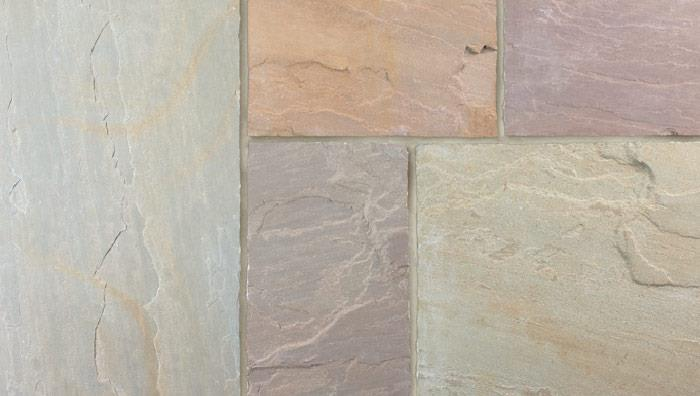 Fairstone Riven Harena Garden Paving in Autumn Bronze Multi