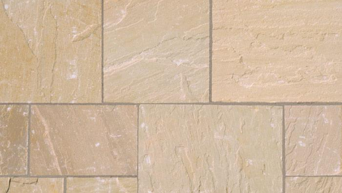 Fairstone Riven Harena Garden Paving in Golden Sand Multi