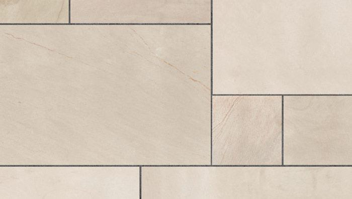 Fairstone Sawn Versuro Garden Paving in Caramel Cream Multi