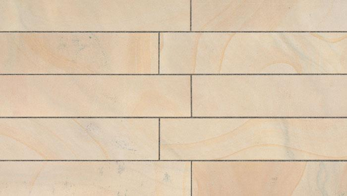 View Fairstone Sawn Versuro Linear Garden Paving in Golden Sand Multi image