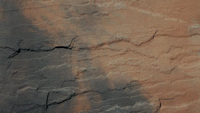 Heritage Riven Garden Circle Feature in Calder Brown