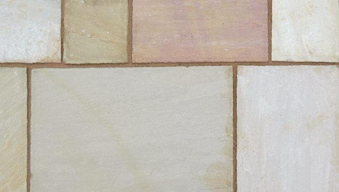 Indian Sandstone Paving in Buff Multi