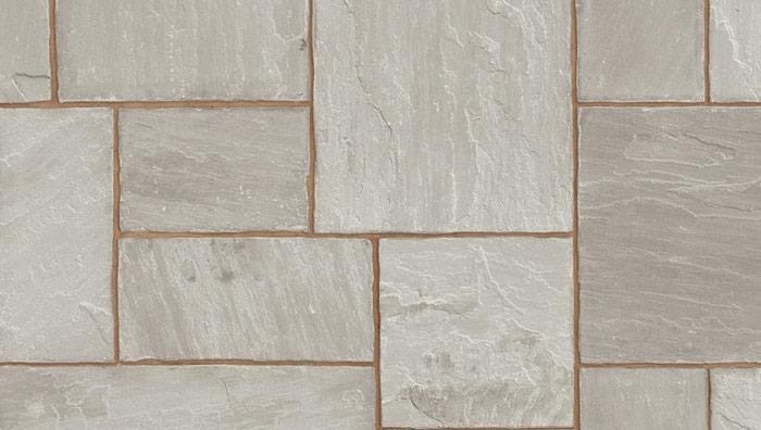 Indian Sandstone Paving in Grey Multi