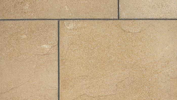 Regent Textured Riven Garden Paving in Buff