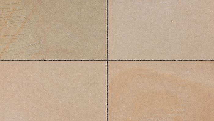 Fairstone Sawn Versuro Jumbo King Size Sandstone Paving in Golden Sand Multi