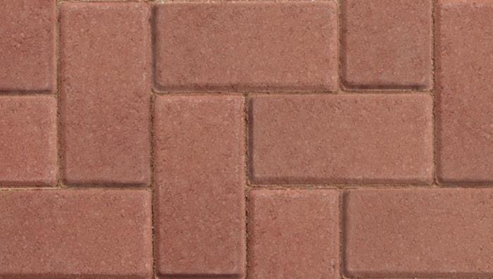 Standard Concrete Block Paving in Red