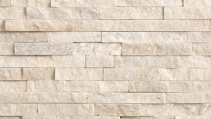 Stoneface Drystack Veneer Walling in Oyster Quartzite