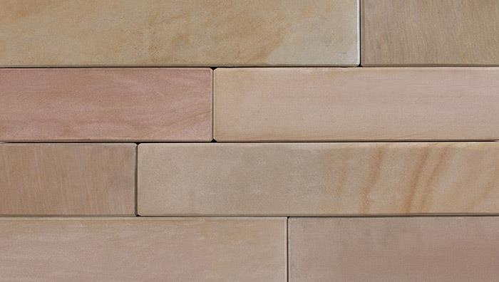 Stoneface Sawn Slip Veneer Walling in Autumn Bronze Multi