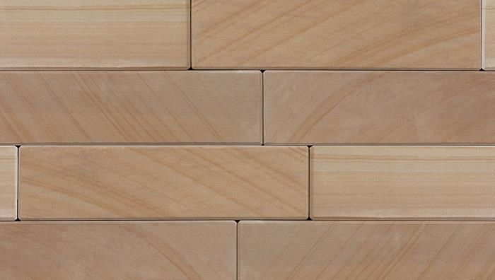 Stoneface Sawn Slip Veneer Walling in Golden Sand Multi
