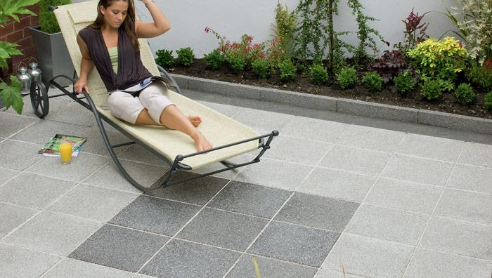 Argent Smooth Garden Paving - Light & Dark