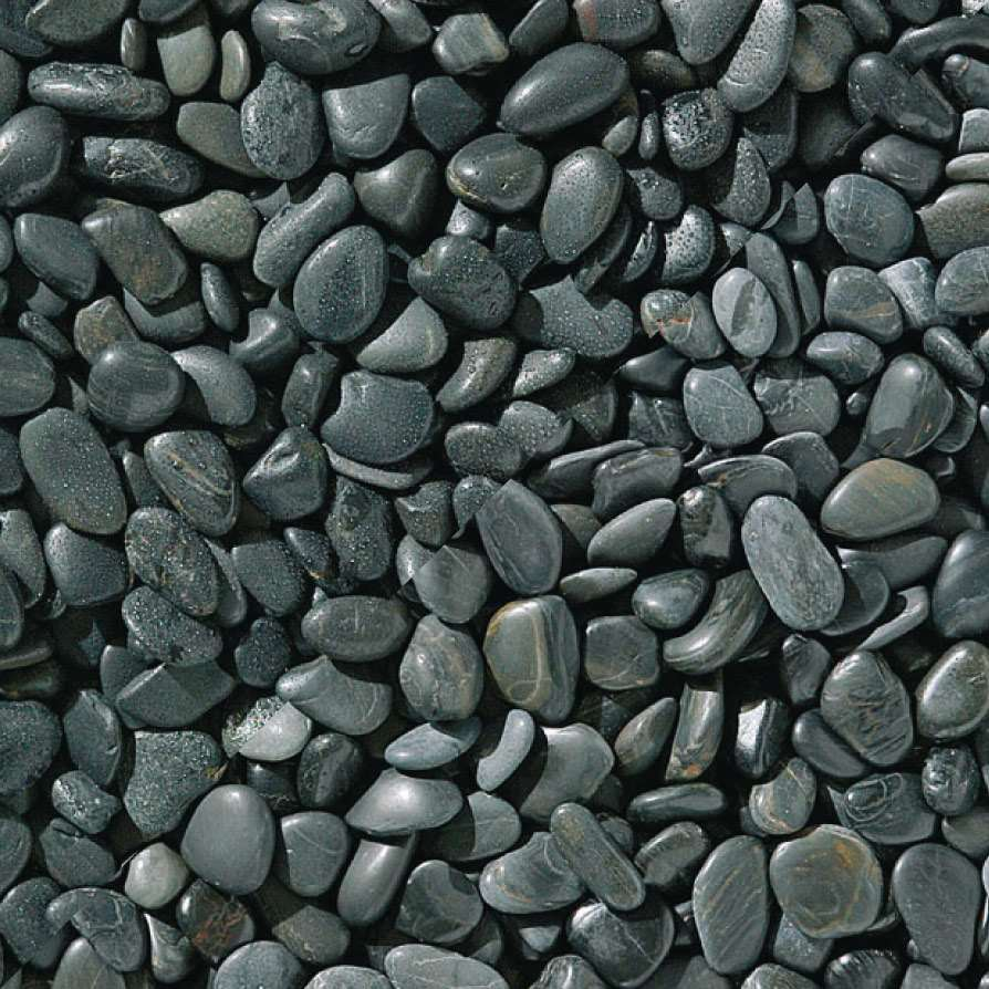 Black Polished Pebbles Marshallscouk