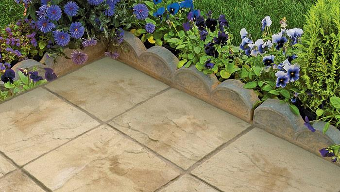 Country Garden Edging - Weathered