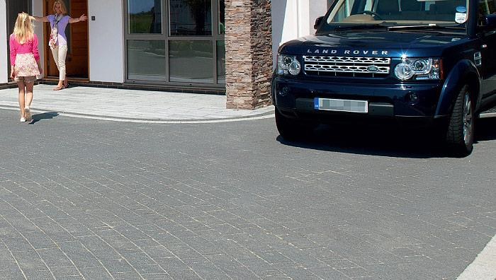 Drivesett Argent Block Paving - Dark