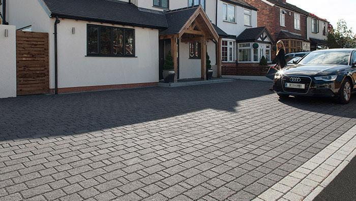 Drivesett Argent Priora Permeable Block Paving - Dark