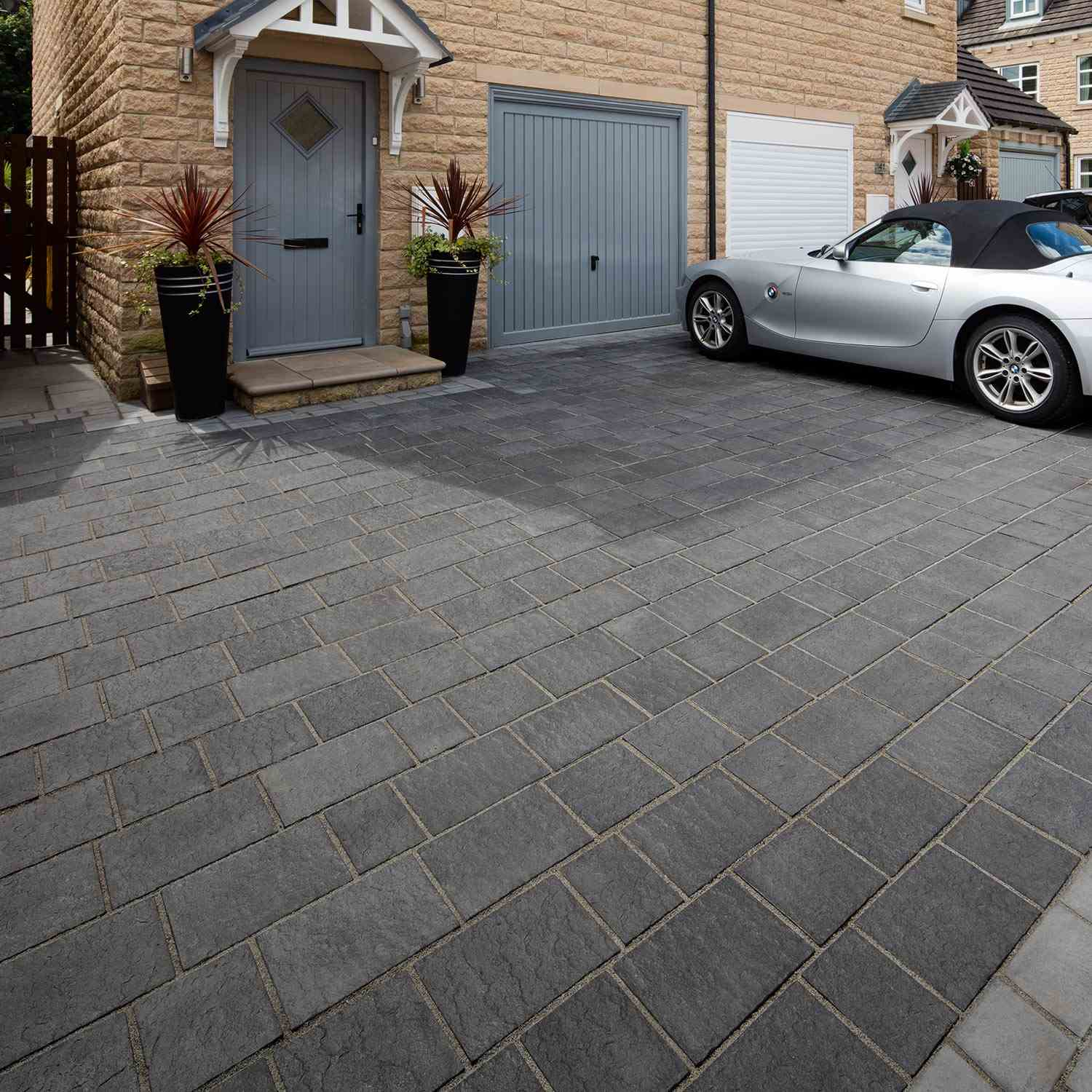 Drivesys® Patented Driveway System Flamed Stone | Marshalls.co.uk