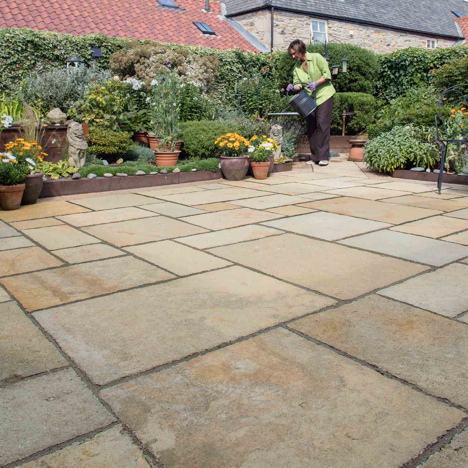 Fairstone limestone aluri riven garden paving marshalls - What is lime used for in gardening ...