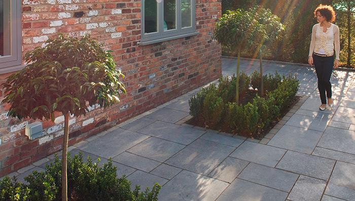 View Fairstone Limestone Aluri Smooth Garden Paving lifestyle image 3