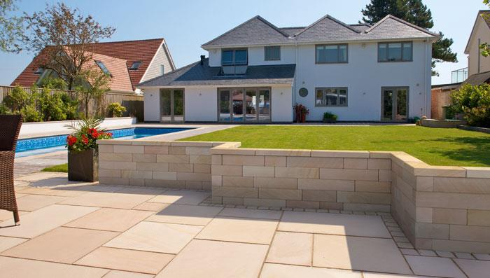 Fairstone Natural Stone Sawn Coping Stones - Golden Sand Multi