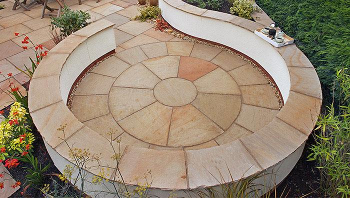Fairstone Paving Circles - Golden Sand Multi