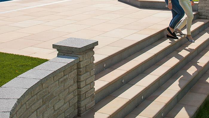 Fairstone Sawn Sandstone Steps - Autumn Bronze Multi