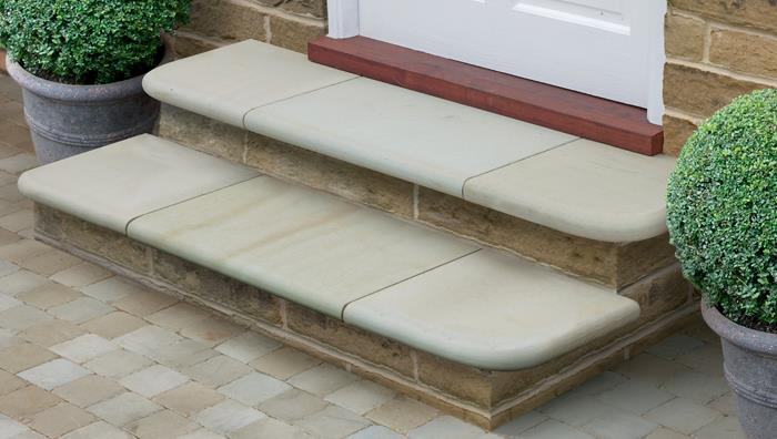 Fairstone Sawn Sandstone Steps - Antique Silver Multi