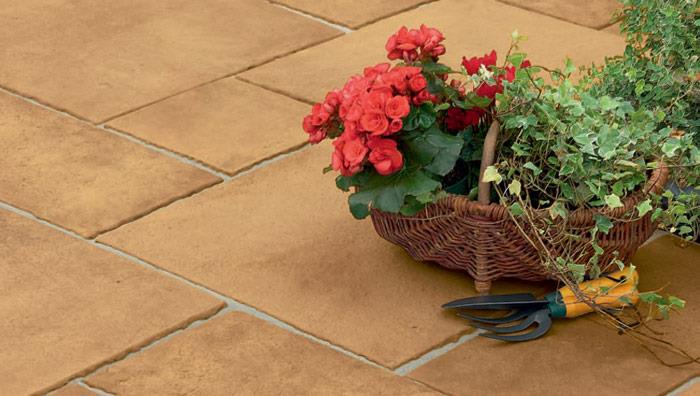 Firedstone Flame Textured Garden Paving - Sunrise
