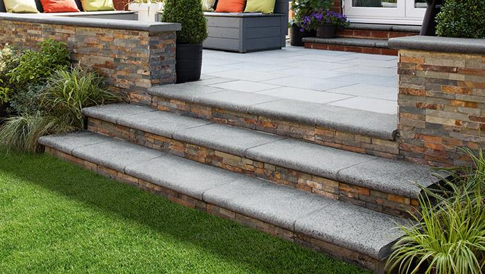 Granite Eclipse Garden Steps Marshalls Co Uk