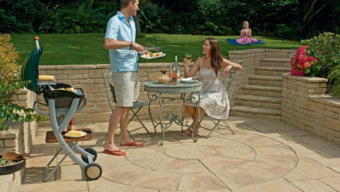 Heritage Riven Garden Circle Feature - Yorkstone