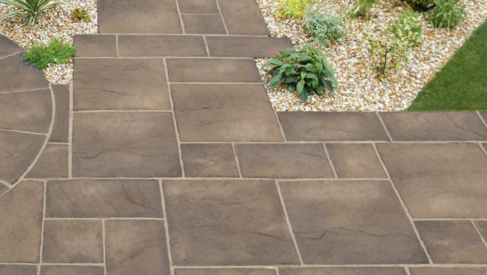 Heritage Riven Garden Paving - Weathered Yorkstone